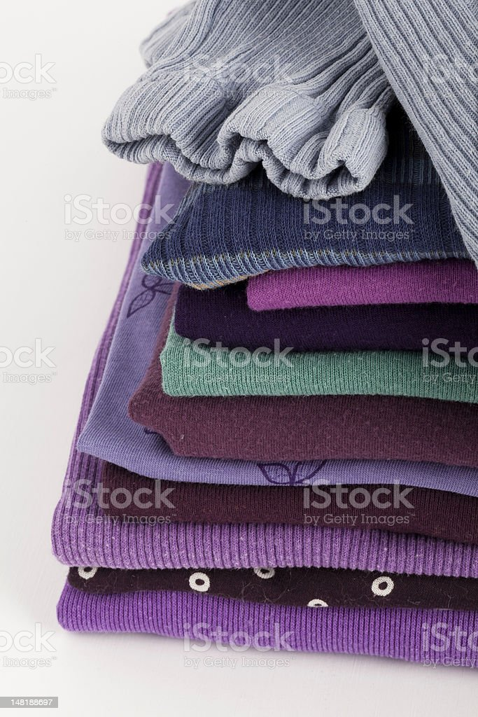 Piled T-shirts royalty-free stock photo