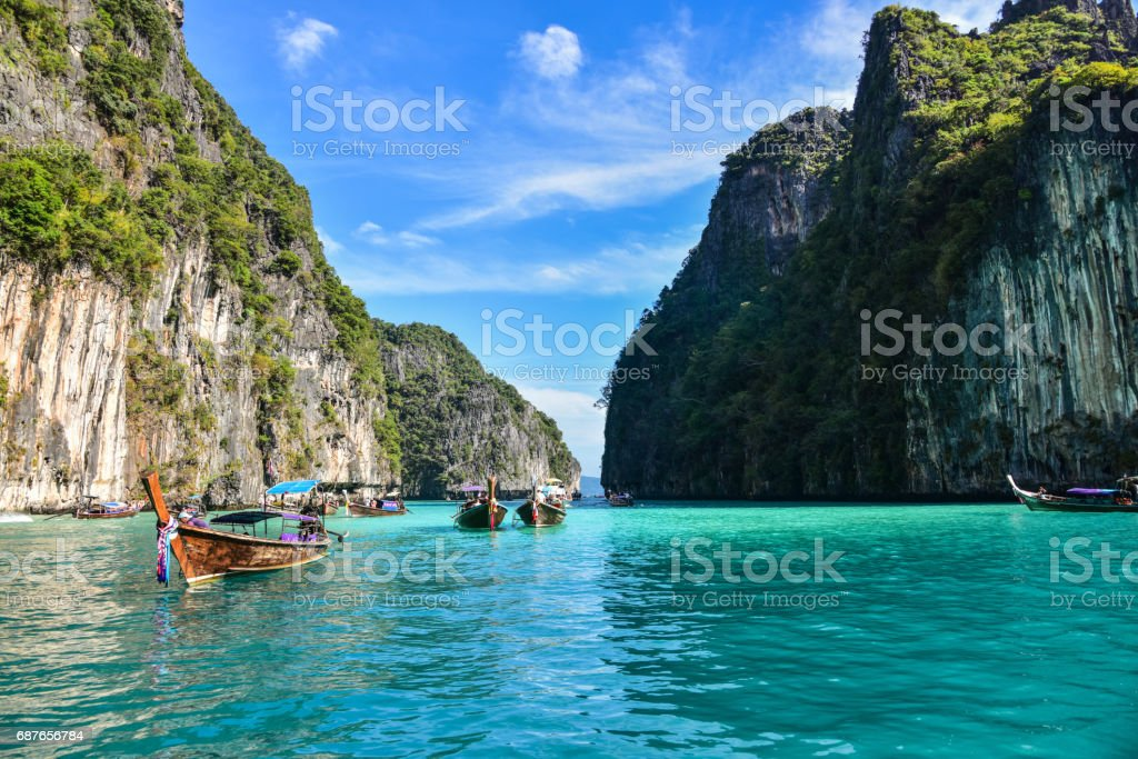 Pileh Lagoon in Ko Phi Phi Island - Thailand stock photo