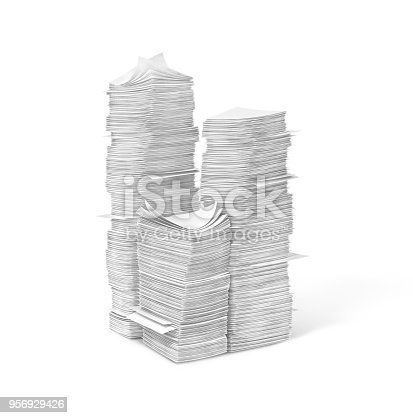 istock piles of blank pages.3d  illustration 956929426