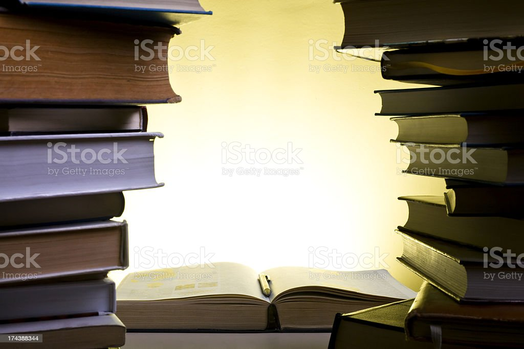 piles of books royalty-free stock photo