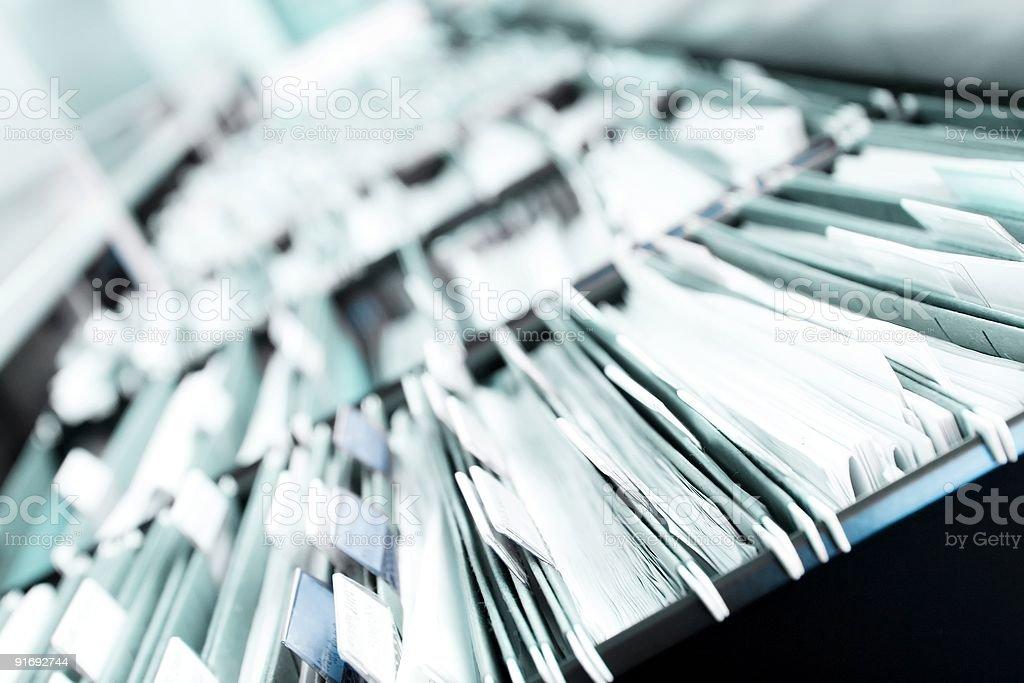 Stapel von Dateien - Lizenzfrei Akte Stock-Foto
