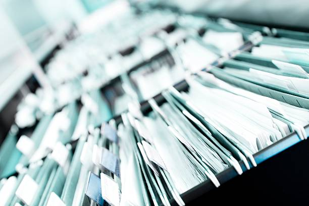 piles of files - file stock photos and pictures