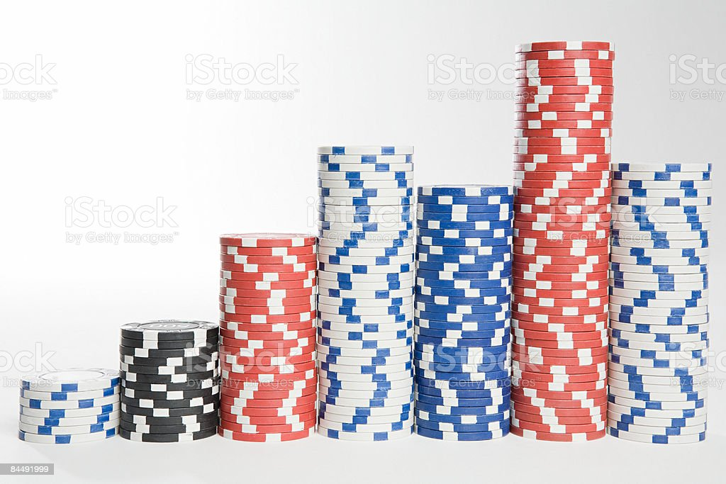 Piles de jetons de casino photo libre de droits