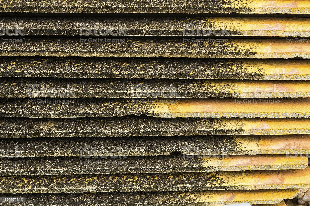 Piles of old roof tiles royalty-free stock photo
