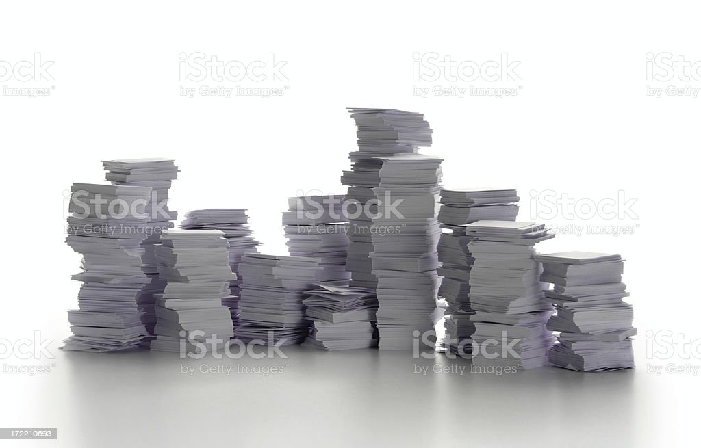 Piles of paper, Bureacracy (serie) royalty-free stock photo