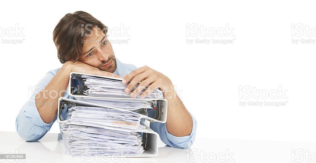 Piles of paperwork royalty-free stock photo