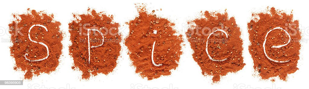 Piles of red paprika royalty-free stock photo