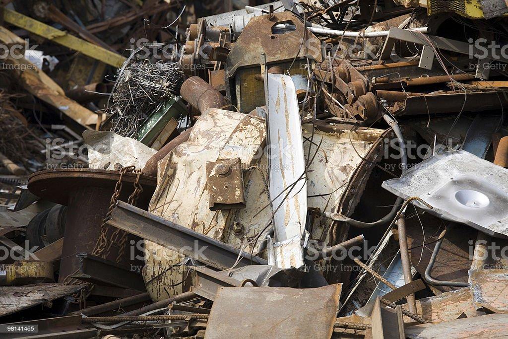 Piles of rusty scrap metal from various origins. royalty-free stock photo