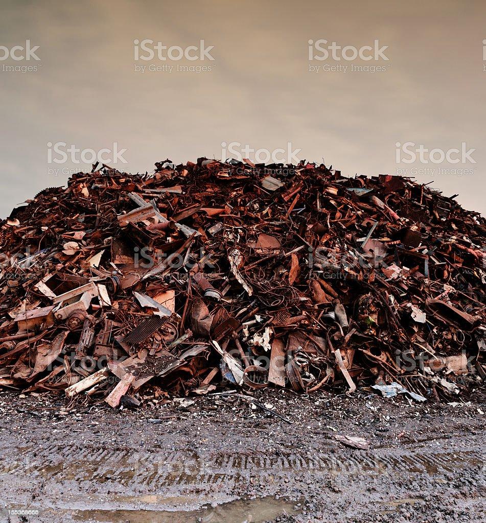 Piles of Scrap royalty-free stock photo