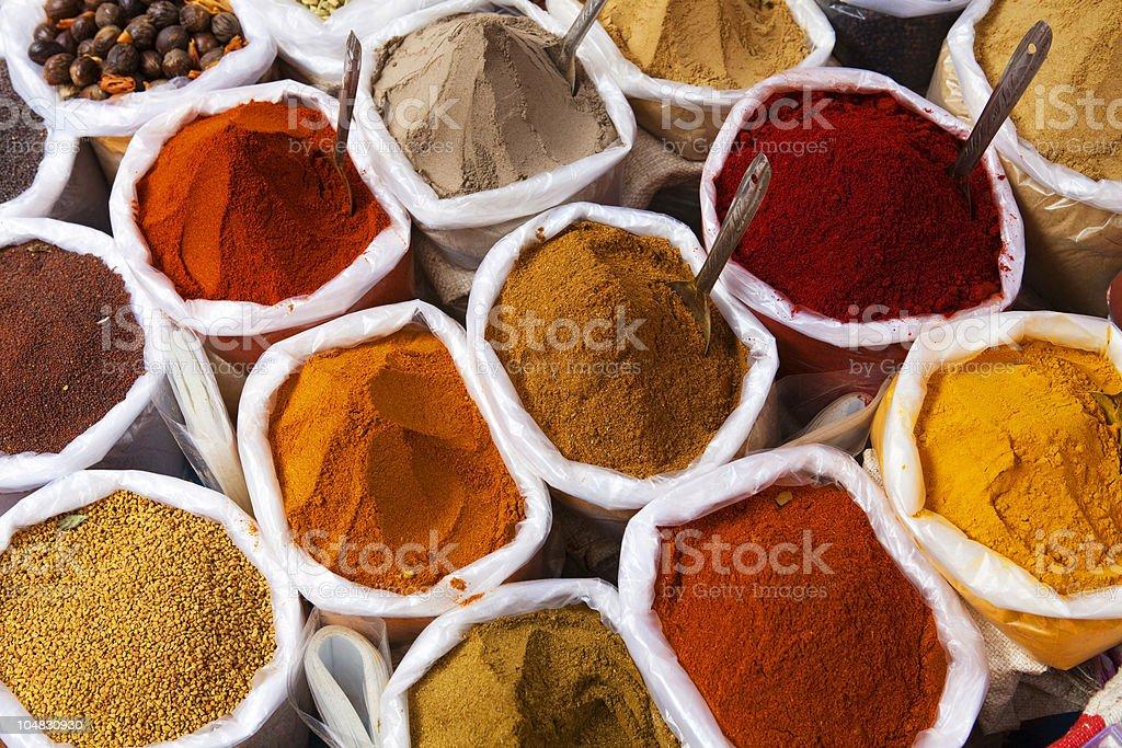 Piles of spice stock photo