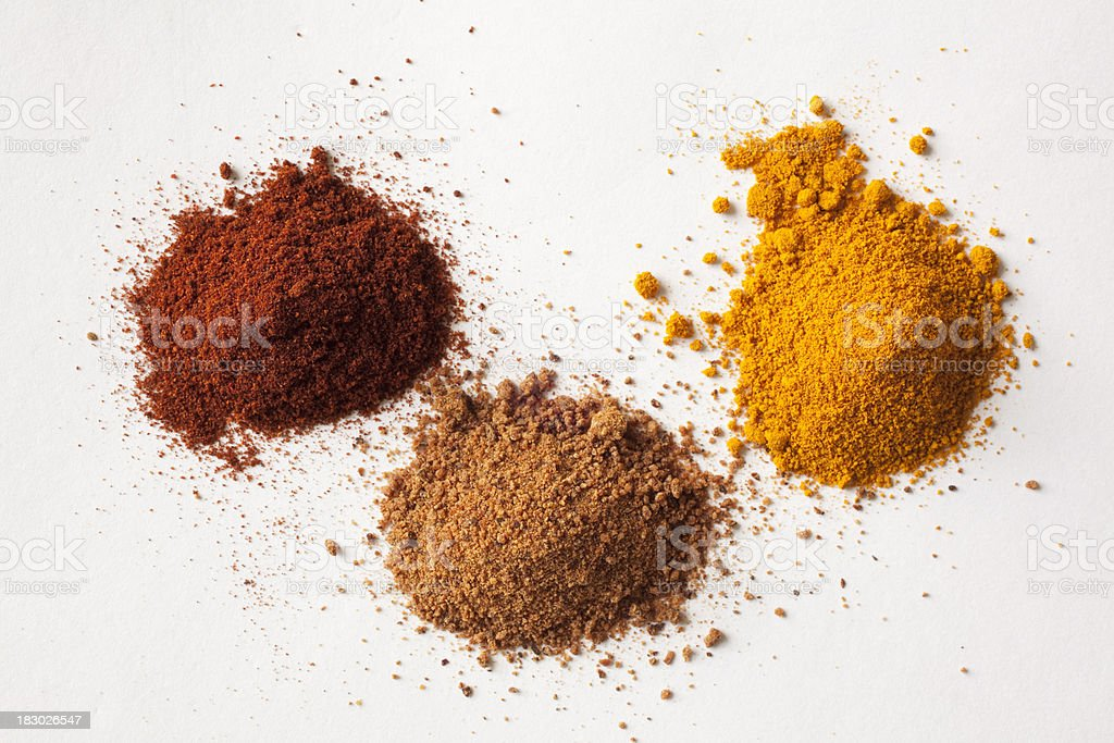 piles of spices royalty-free stock photo