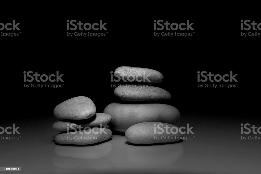 Piles of stone 1 stock photo