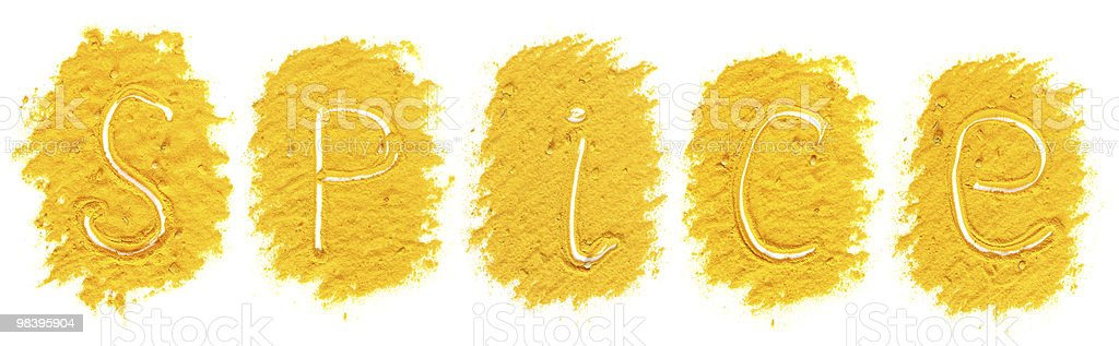 Mucchi di giallo curry foto stock royalty-free