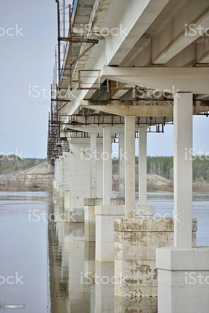 Piles under the bridge royalty-free stock photo