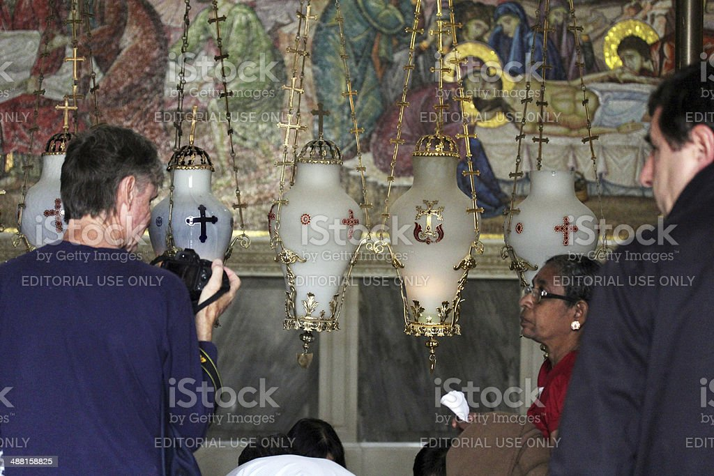 Pilgrim  at the Church of Holy Sepulcher