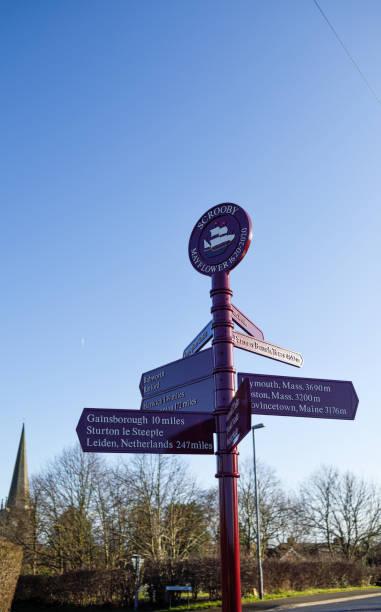 Pilgerväter Scrooby und Babworth Nottinghamshire, Vereinigtes Königreich. – Foto