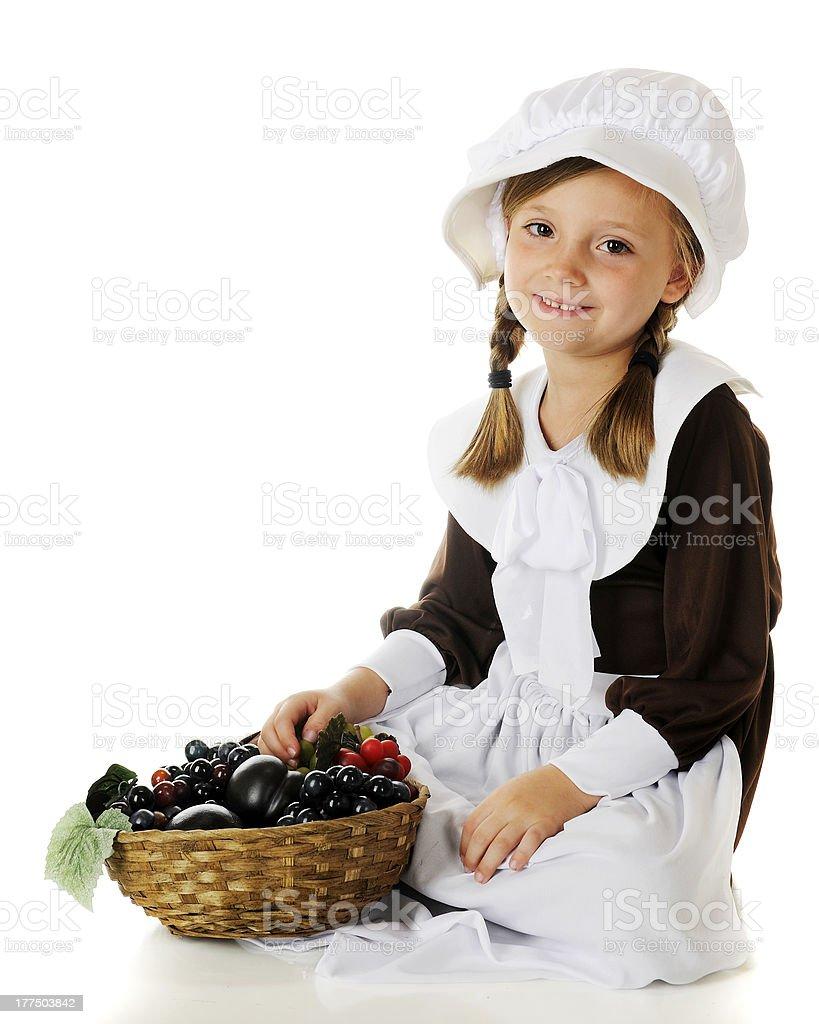Pilgrim Girl's Fruit Basket stock photo
