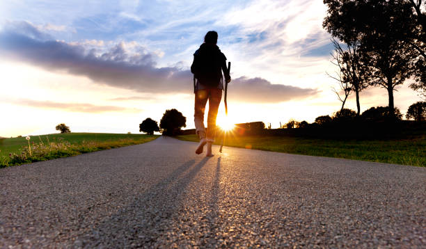 Pilgrim woman at Sunset Pilgrim woman at Sunset pilgrim stock pictures, royalty-free photos & images