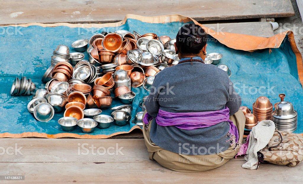 Pilgrim Work near Boudhanath royalty-free stock photo