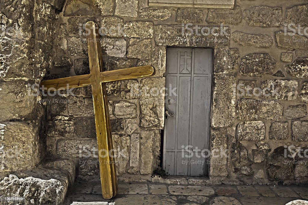 Pilgrimage Crosses stock photo