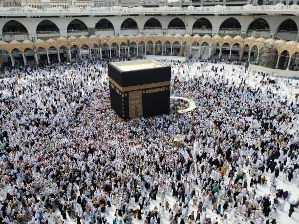 메카와 카바 순례 - saudi national day 뉴스 사진 이미지
