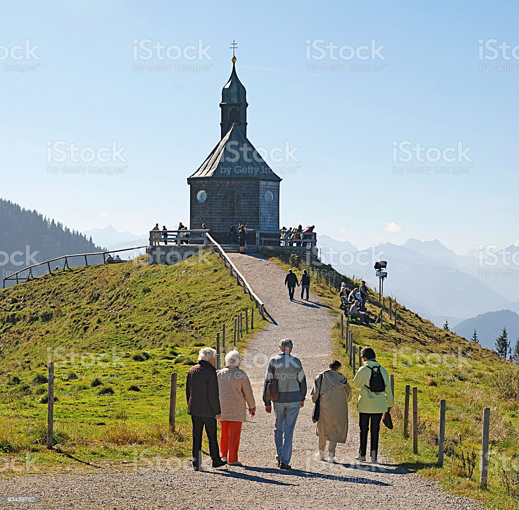 pilgrimage - Wallbergkirche am Tegernsee stock photo