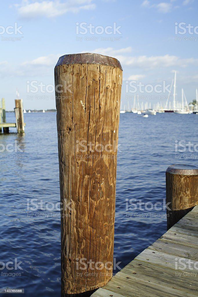 Piling royalty-free stock photo
