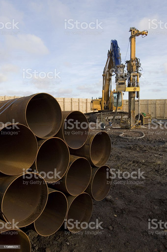 piling rig royalty-free stock photo