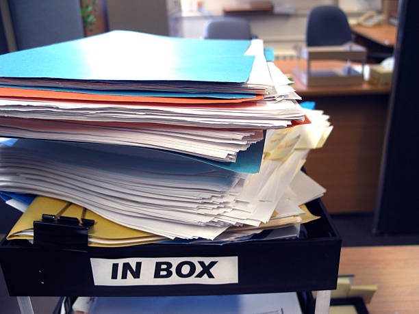Piling up stock photo