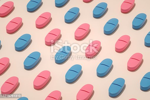 3d rendering of pills, Healthcare and medicine concept.