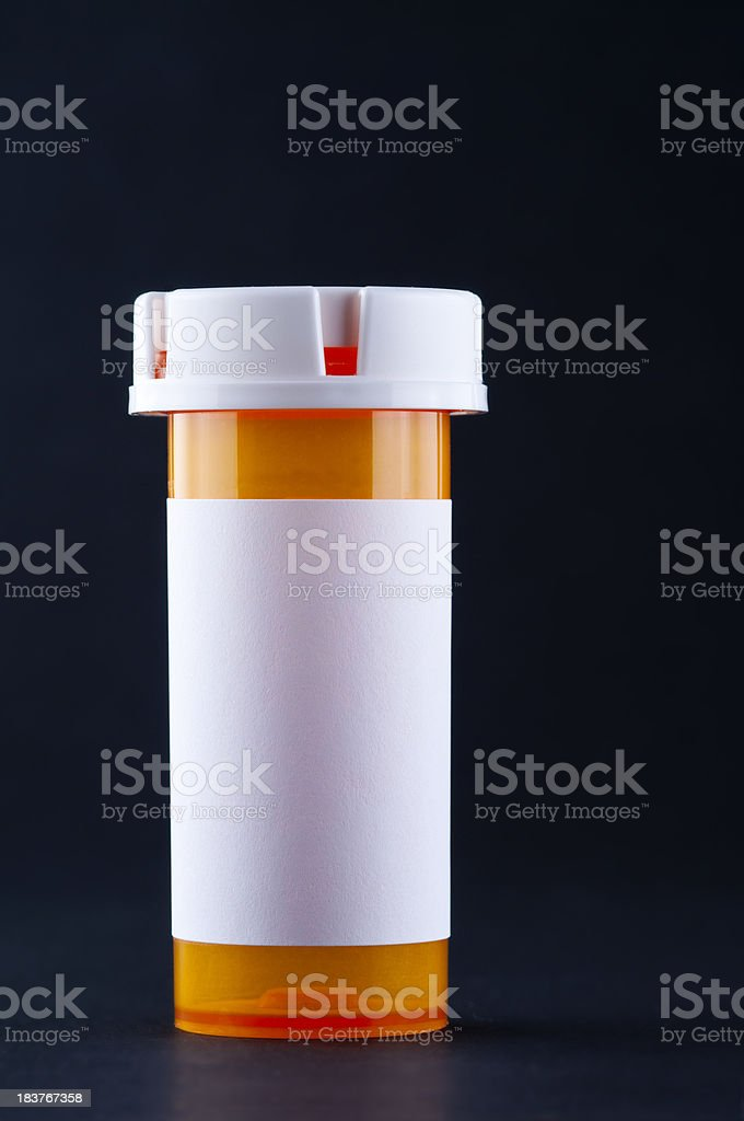 Pill Bottle Blank Label stock photo