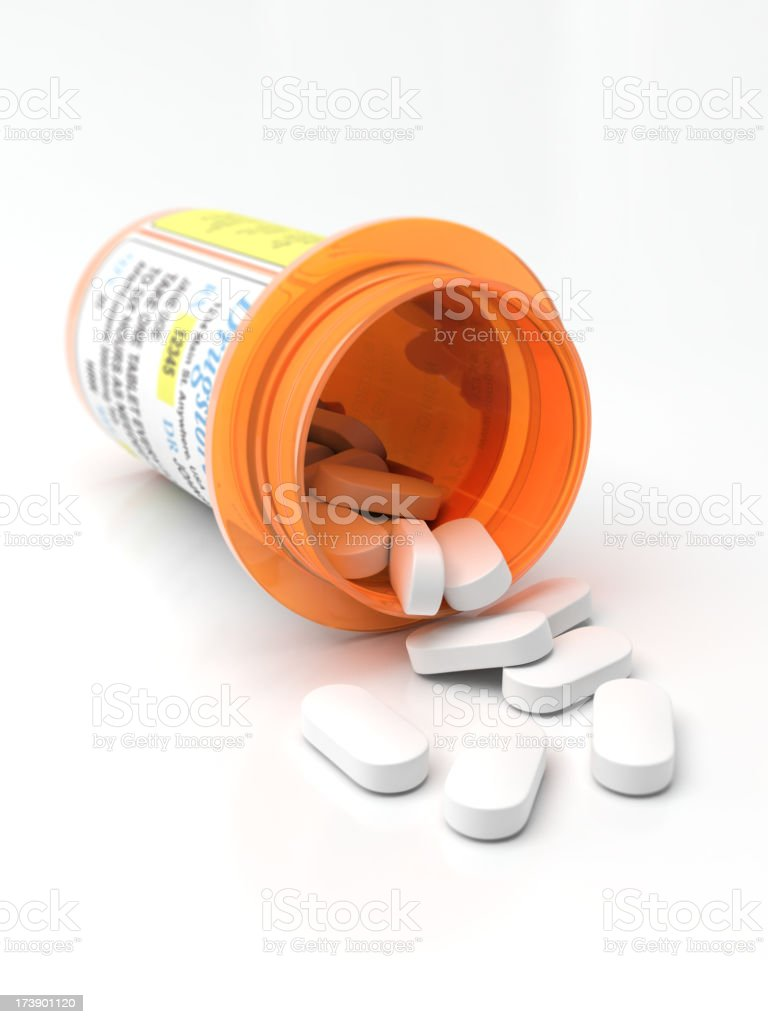 Pill Bottle stock photo