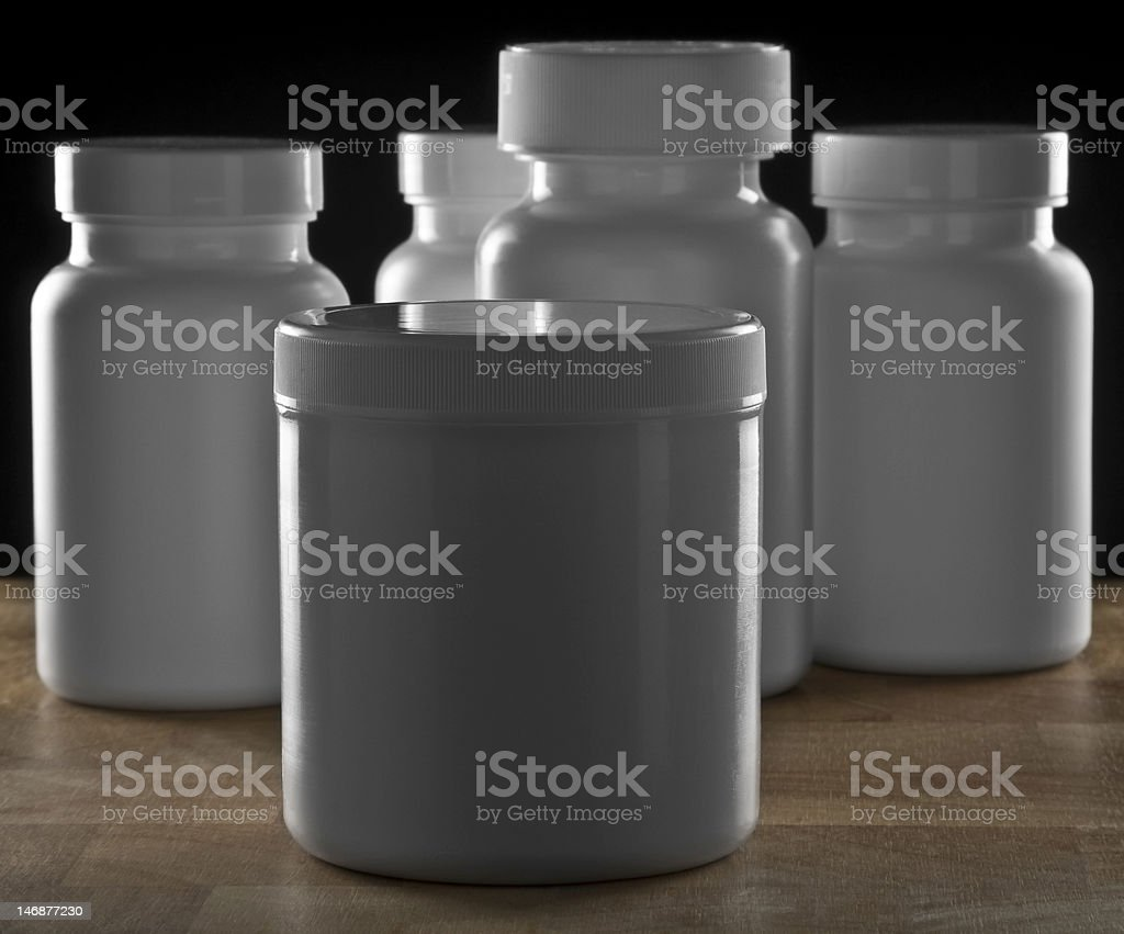 pill bottles royalty-free stock photo