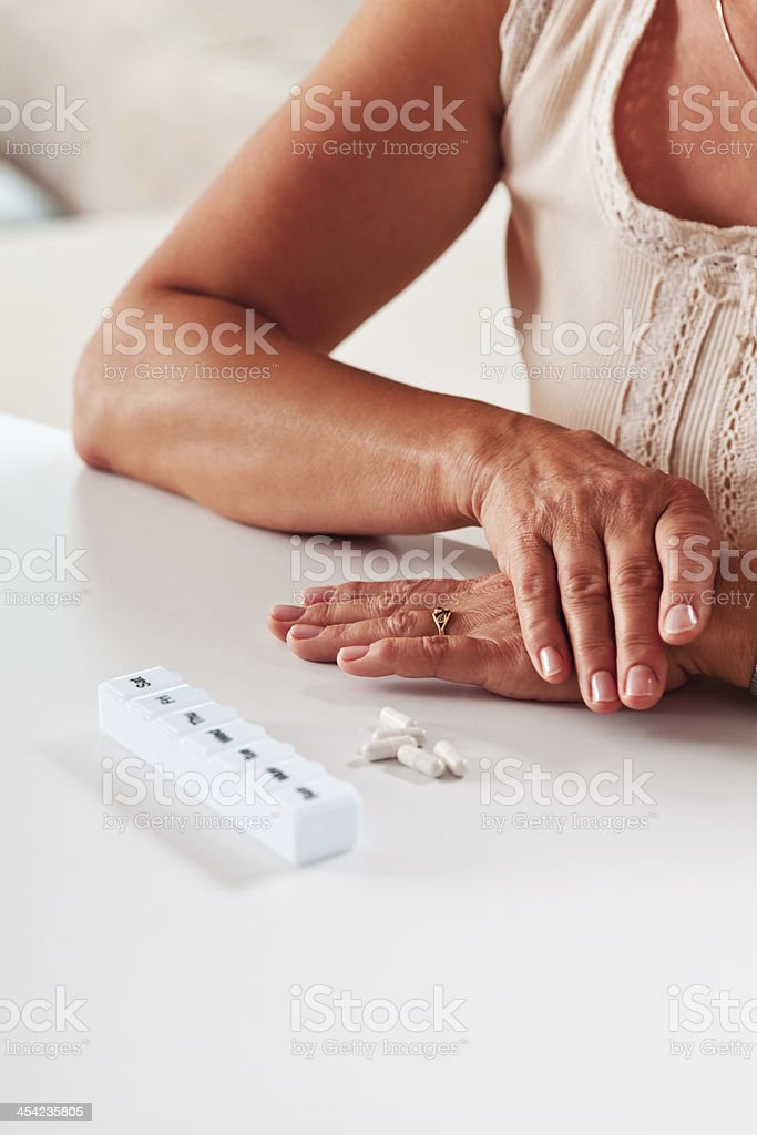 Pill box royalty-free stock photo