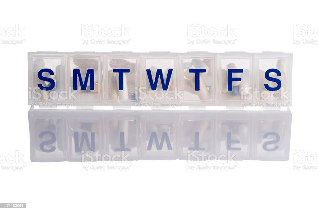 Pill Box with Clipping Path royalty-free stock photo
