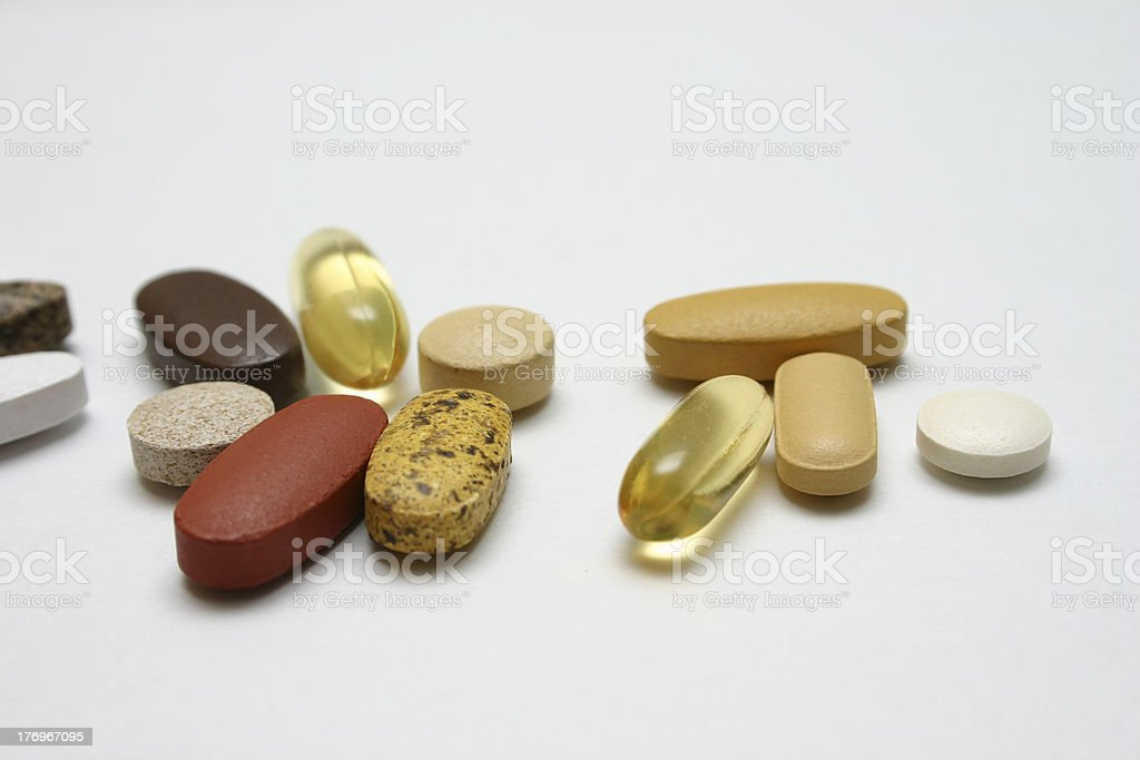 Pill cocktail royalty-free stock photo