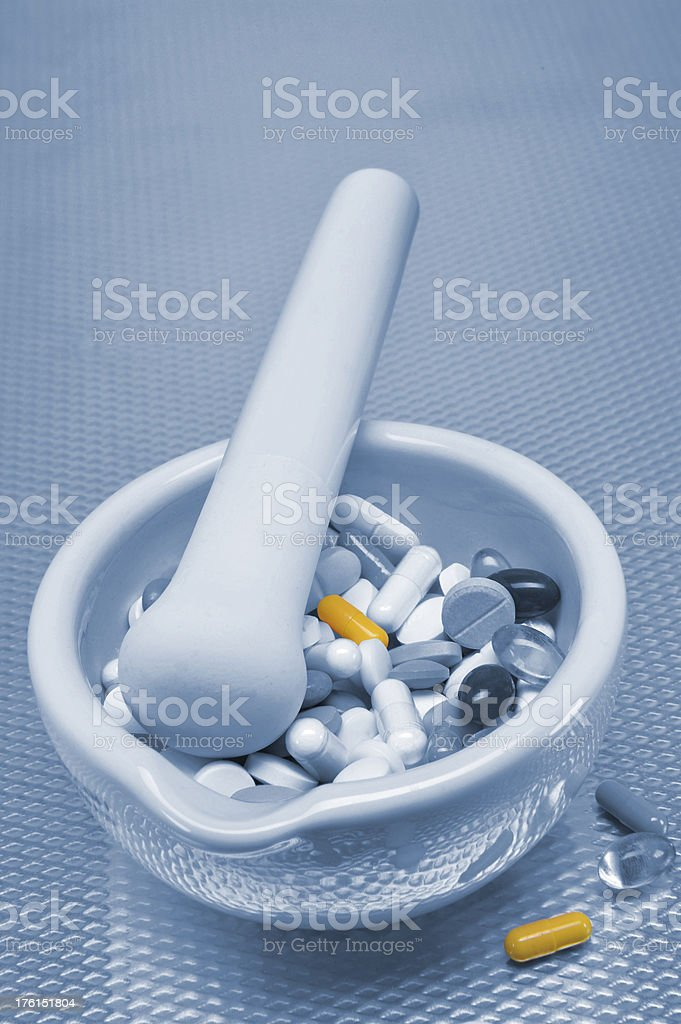 Pill Crusher royalty-free stock photo