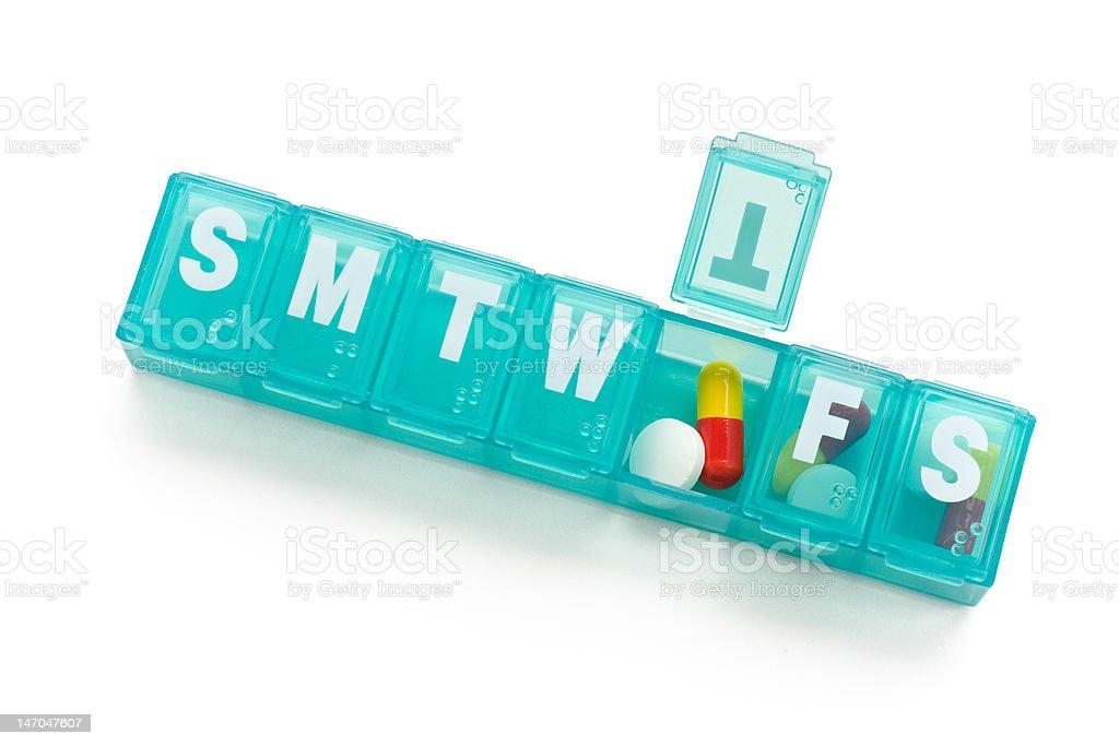 Pill dispenser stock photo