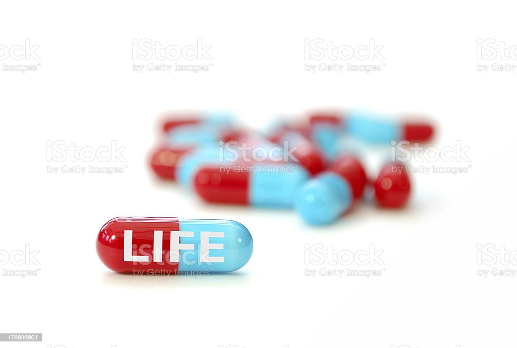 Pill of life royalty-free stock photo