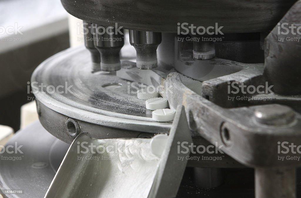 pill production machine stock photo
