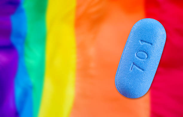 Pill used for Pre-Exposure Prophylaxis (PrEP) to prevent stock photo
