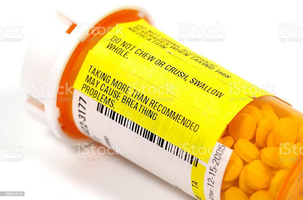 Pill Warning stock photo