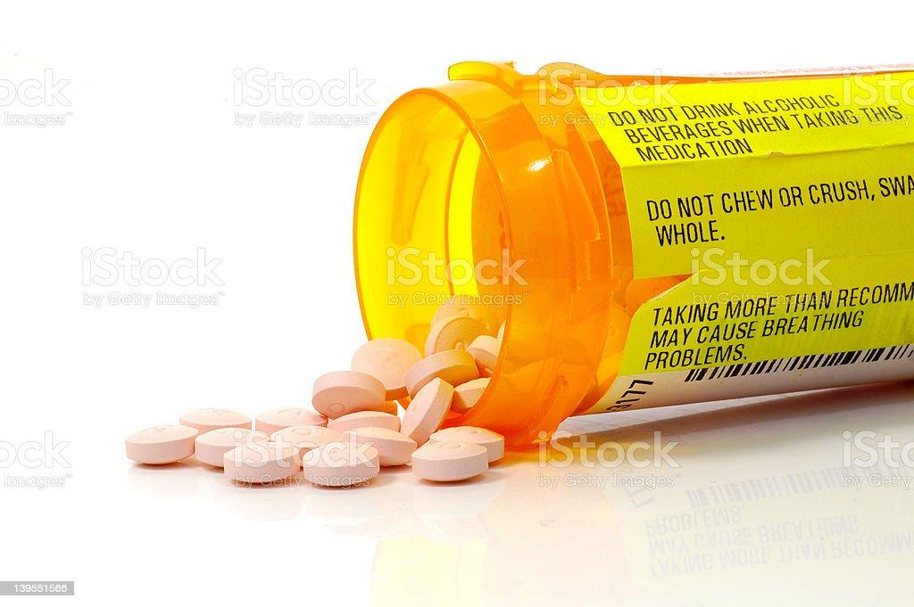 Pill Warnings stock photo