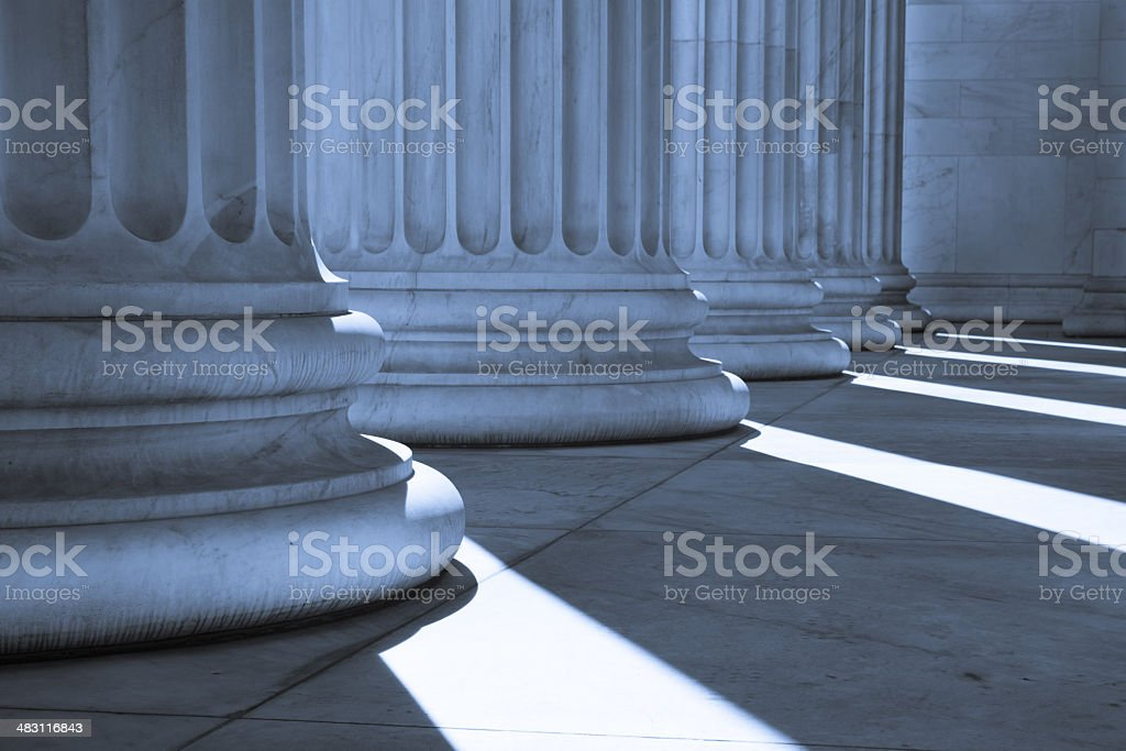 Pillar Bases, Blue Tint stock photo