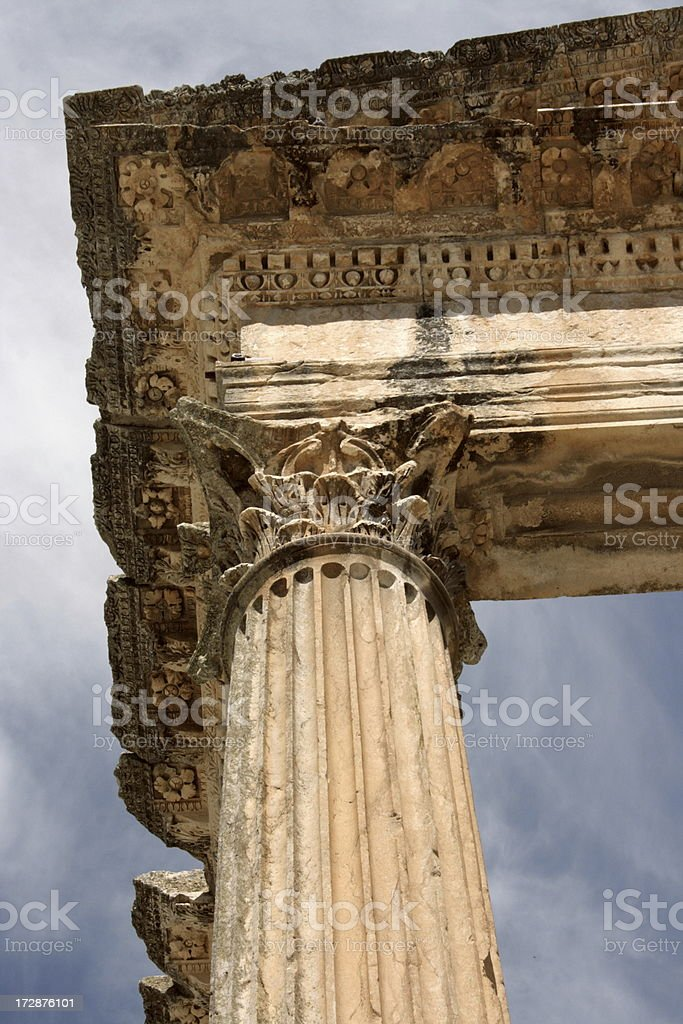 Pillar of Roman temple royalty-free stock photo