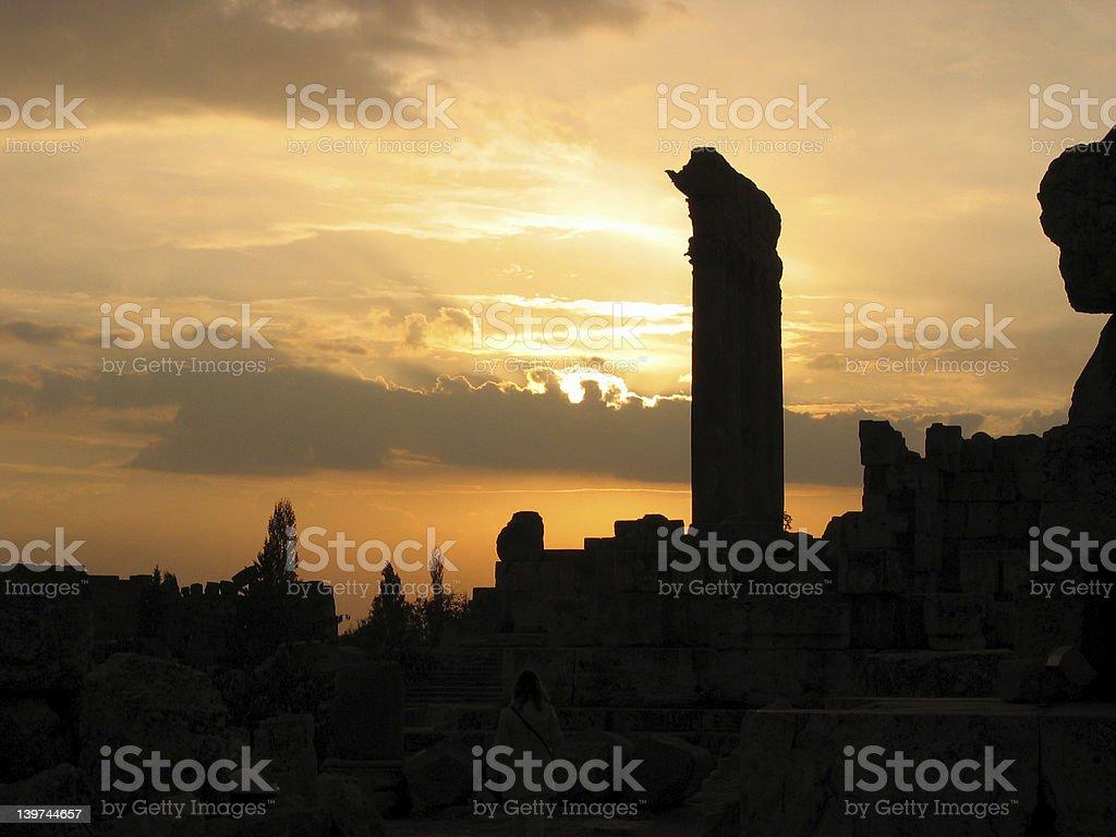 Pillar Sunset royalty-free stock photo