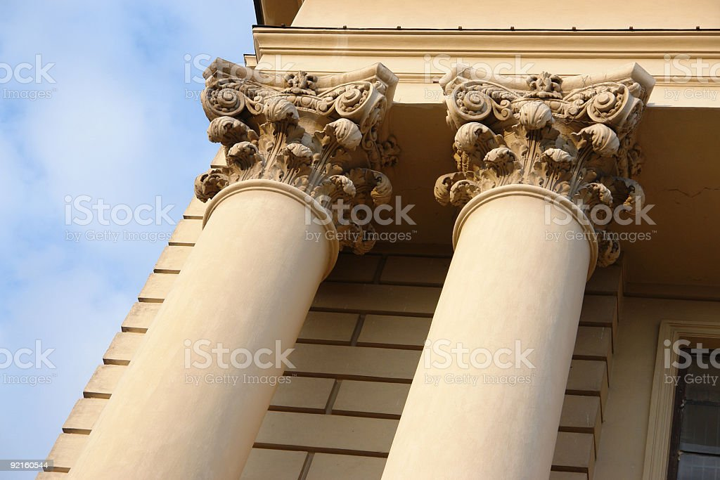 Pillars and blue sky royalty-free stock photo