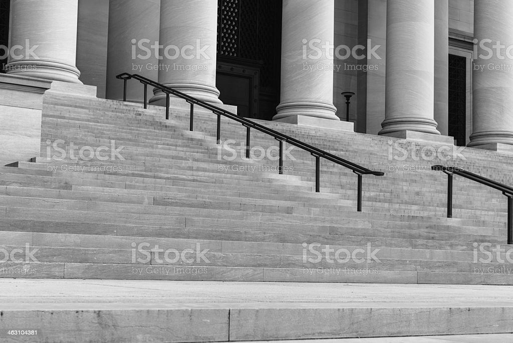 Pillars and Step royalty-free stock photo