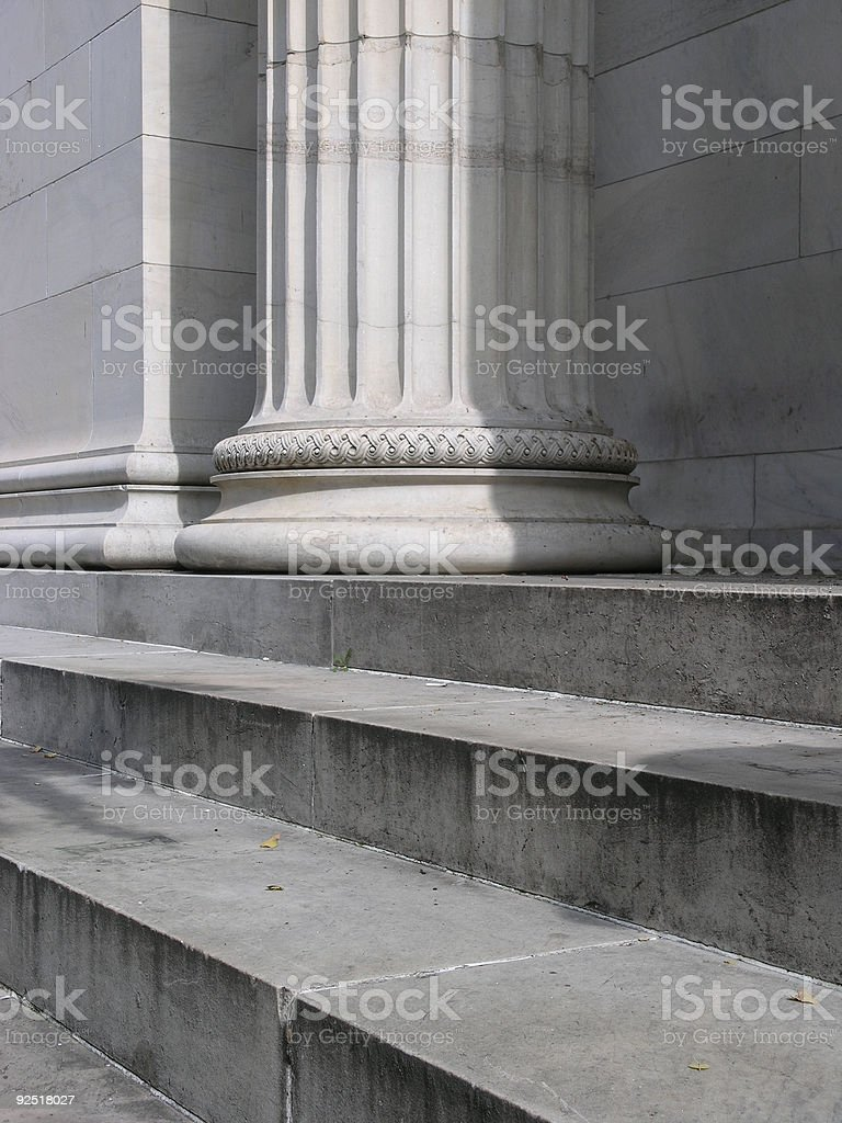 Pillars and Steps 2 royalty-free stock photo