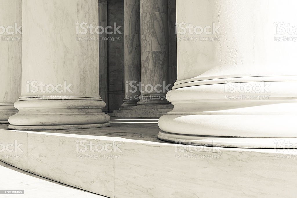 Pillars and Steps royalty-free stock photo